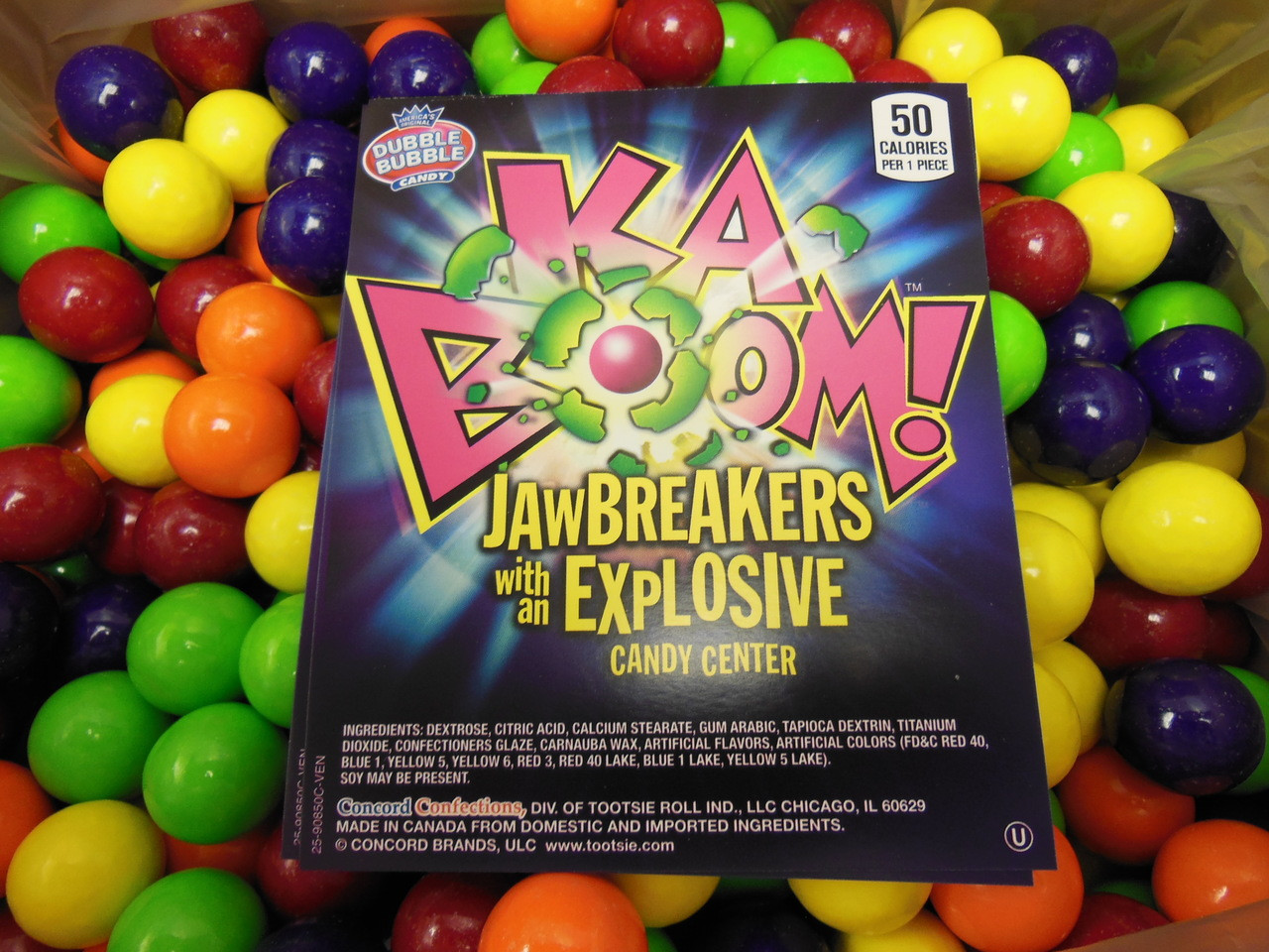 ad16a8c8c3c Kaboom Jawbreakers Explosive Candy Center Concord 1 LB (453g)