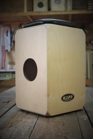 Kopf Percussion Birch Series DeUno Cajons sound port view.
