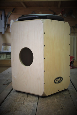 Kopf Percussion Birch Series Snare Cajon sound port view. Check out all my cajon drums for sale.
