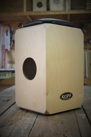 Kopf Percussion Birch Series DeUno Cajons sound port view.