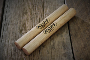 My Traditional Maple Claves are handcrafted from Hard Maple Stock.