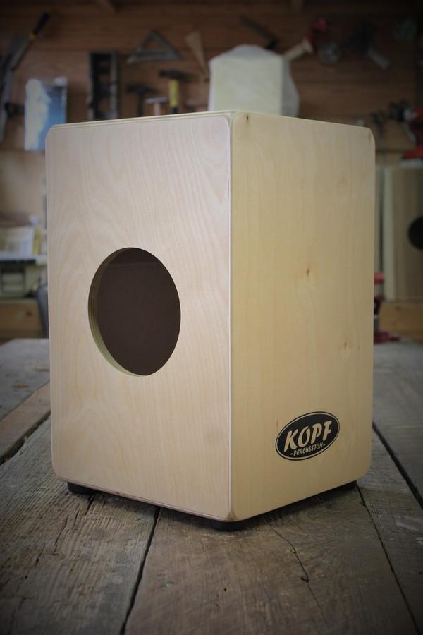 Kopf Percussion Kids Cajon sound port view.