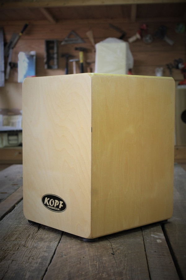 Kopf Percussion Cajon Junior kids hand drum side view