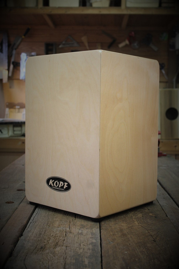Kopf Percussion Novato Beginner Cajon side view.