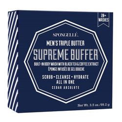 Spongelle Men's Triple Butter Supreme Buffer 20+ Washes