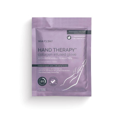 BeautyPro Hand Therapy Collagen Infused Glove with Removable Finger Tips