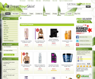 Treat Your Skin - New Website Launch