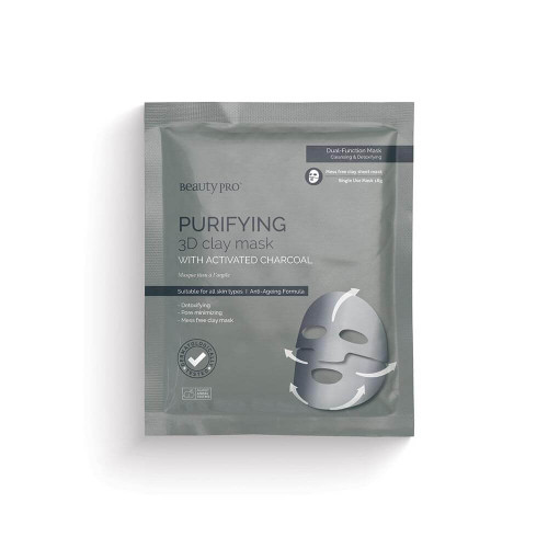 BeautyPro Purifying 3D Clay Mask with Activated Charcoal
