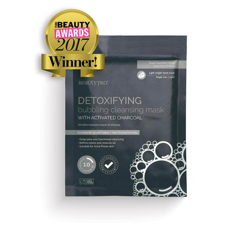 BeautyPro Detoxifying Bubbling Cleansing Mask with Activated Charcoal