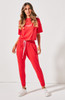 Cartel & Willow Kenji Comeback Pants Red with Pink Stripe