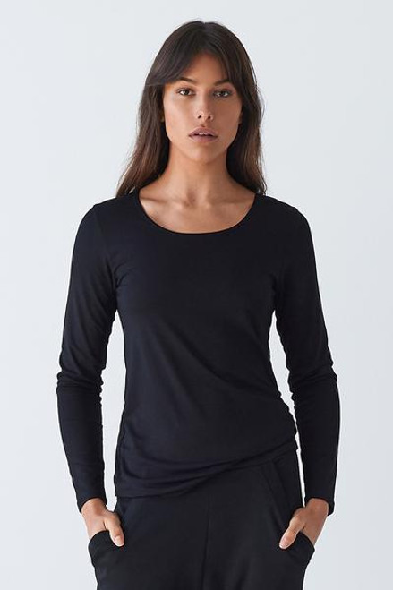 Layer'd Latt Long sleeved top Black LamiSaru Boutique