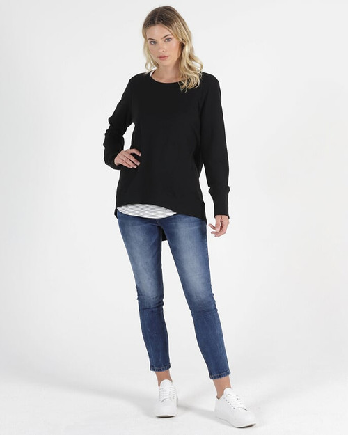 Betty Basics Dolly Sweat Black_lamiaru_boutique