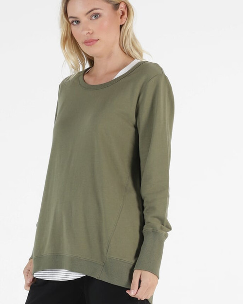 Betty Basics Dolly Sweat Khaki_lamisaru_boutique