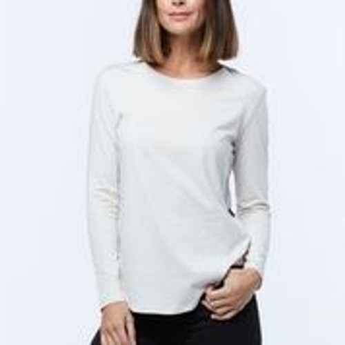 Casa Amuk Long Sleeve Saddle Hem Tee Beige_lamisaru_boutique