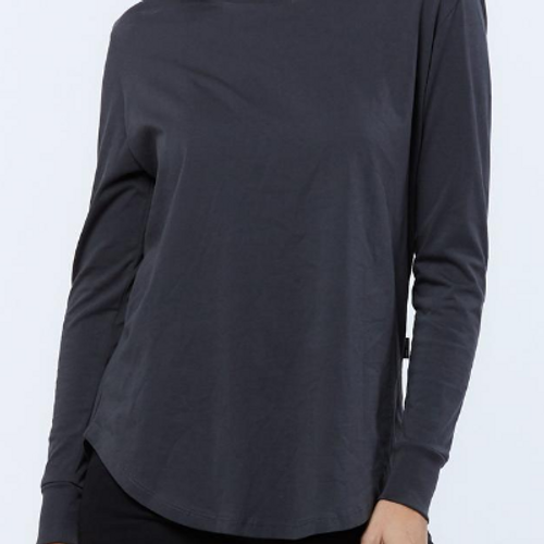 Casa Amuk Long Sleeve Saddle Hem Tee Ashphalt_lamisaru_boutique