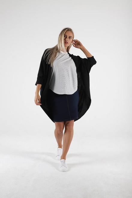 Betty Basics Santorini Drape Cardigan Black_lamsiaru_boutique