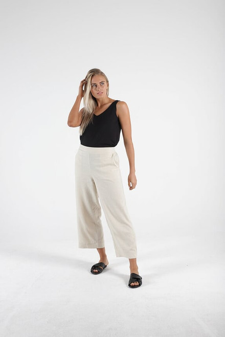 Betty Basics Line Pants Parker Wheat_lamisaru_boutique