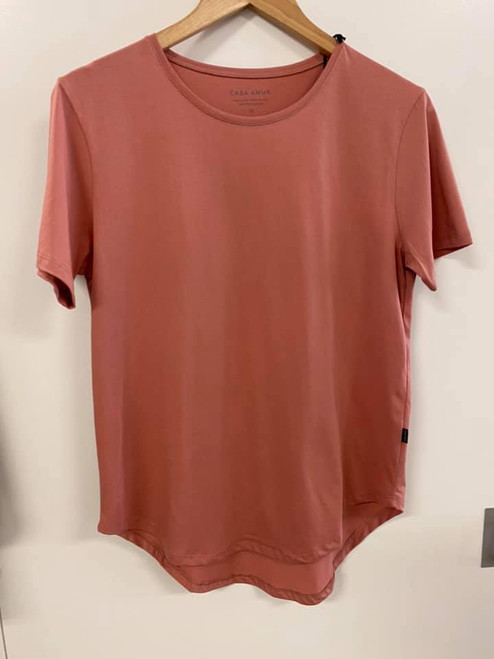 Casa Amuk Short Sleeve Saddle hem T shirt Dusty Pink _lamisaru_boutique