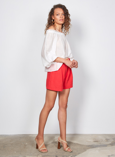 Wish _Jocie_ Shorts_ Red_lamisaru_boutique