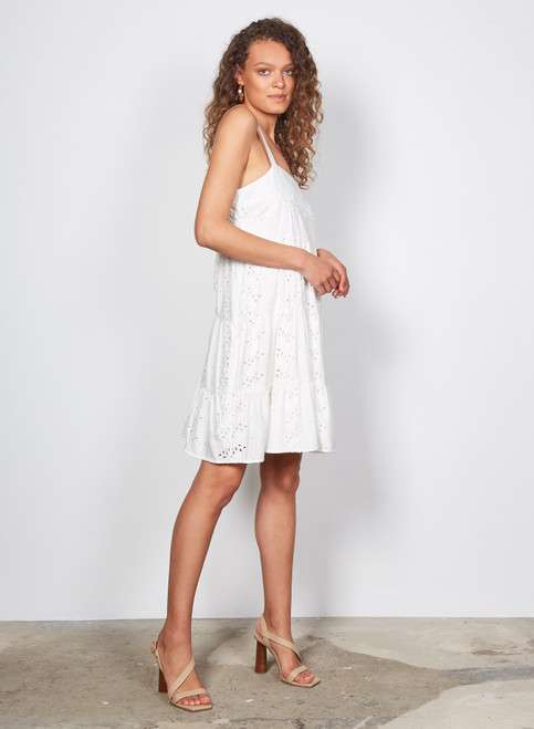 Wish Skye Tiered Dress Ivory
