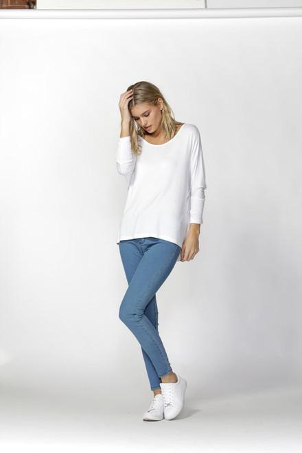 Betty Basics Milan 3/4 Sleeve Top - White