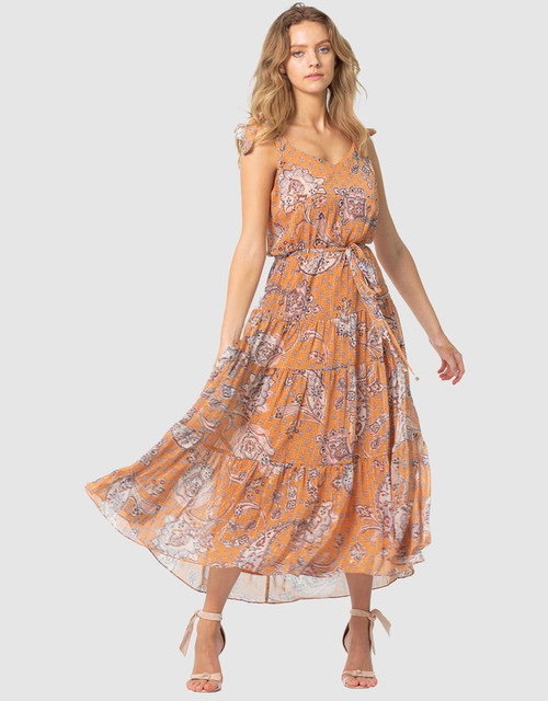 Three Of Something Sunshine Paisley Ella Dress