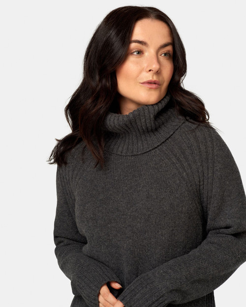 Maxted_ Merino Soft _Touch_ Roll_ Neck _Charcoal_lamisaru_boutique