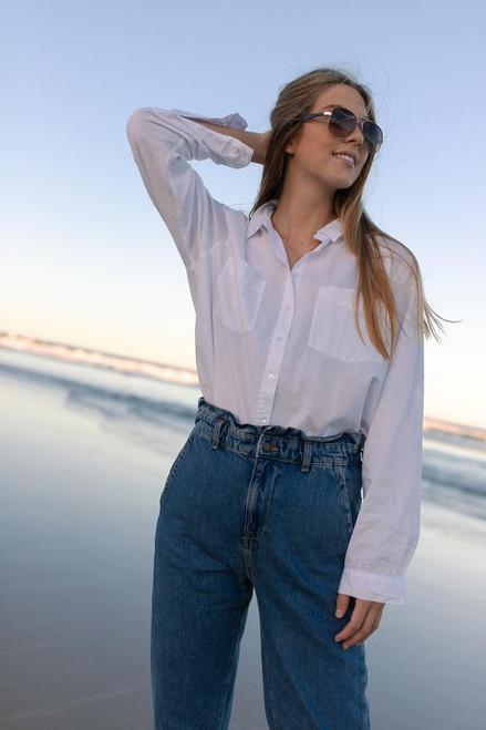 HUT _Shirt_ White_ Cotton _Poplin_lamisaru_boutique