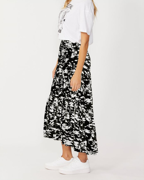 Sass_Macy_Skirt_Black_Abstract _lamisaru_boutique