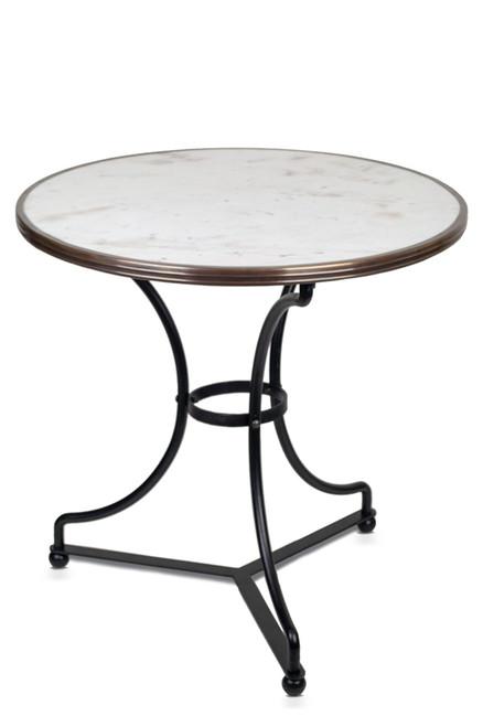 Table de Bistrot en Marbre Blanc, 71 cm de Diamètre