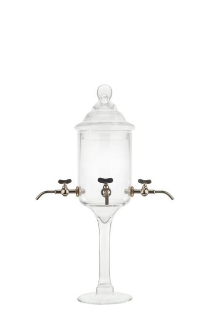 Fontaine à Absinthe en Verre avec, Robinets Métalliques, 4 Robinets