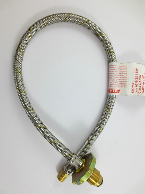 S/S Flexible Hose 600mm Single 3/8