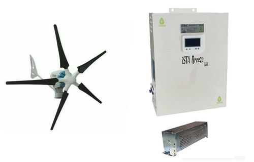 Kit Heli 2KW 48V Off-Grid Wind Turbine & Hybrid Charge Controller