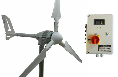 Kit i-1000W 24V Wind Turbine & Hybrid Charge Controller & Tower