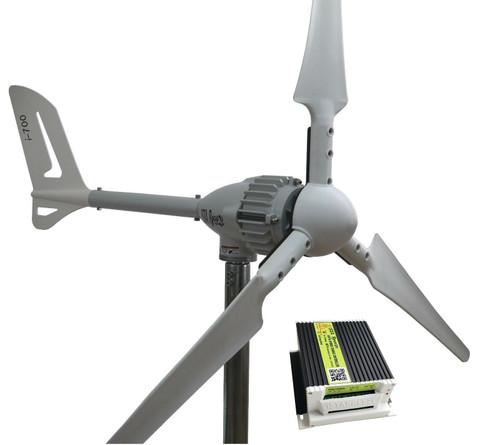 Kit i-700W 48V Wind Turbine & Hybrid Charge Controller & Tower