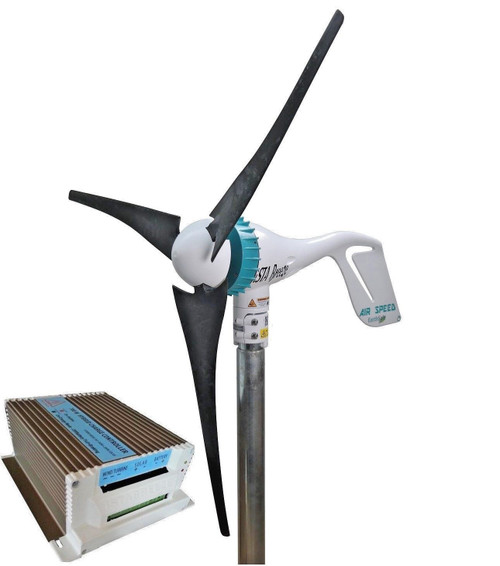 Kit Air Speed 500W 12V/24V Wind Turbine & Hybrid Charge Controller