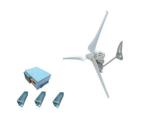 Heli 4KW 48V Off-Grid Wind Turbine + 4KW Charge Controller