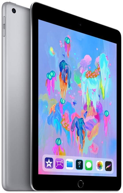Apple iPad 6th Generation w. AppleCare+ (128GB, Wi-Fi, Black/Space Gray), Fair