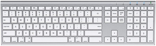 Extended Wireless Keyboard - Bluetooth, Silver
