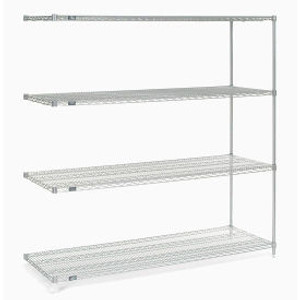 """Nexel®Stainless Steel Wire Shelving Add-On 72""""W x 24""""D x 74""""H"""