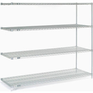 """Nexel®Stainless Steel Wire Shelving Add-On 72""""W x 24""""D x 63""""H"""