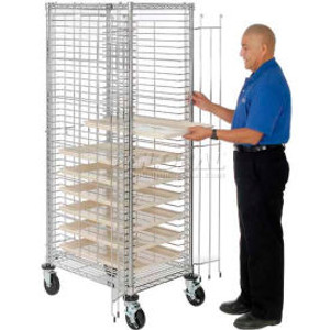 Nexel®End Load Wire Tray Truck with 39 Tray Capacity