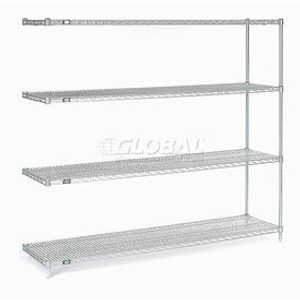 """Nexel®Stainless Steel Wire Shelving Add-On 72""""W x 18""""D x 86""""H"""