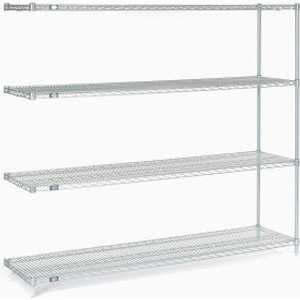 """Nexel®Stainless Steel Wire Shelving Add-On 72""""W x 18""""D x 63""""H"""