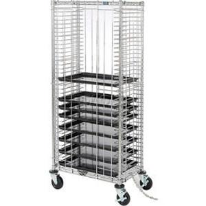 Nexel®Side Load Wire Tray Truck with 39 Tray Capacity