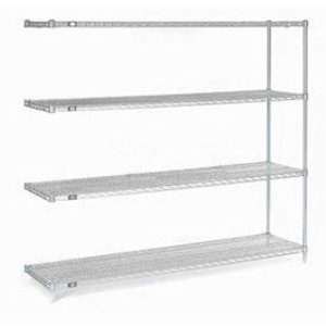 """Nexel®Stainless Steel Wire Shelving Add-On 60""""W x 24""""D x 86""""H"""