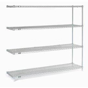 """Nexel®Stainless Steel Wire Shelving Add-On 60""""W x 18""""D x 86""""H"""