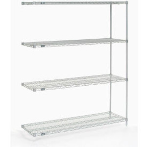 """Nexel®Stainless Steel Wire Shelving Add-On 60""""W x 18""""D x 74""""H"""