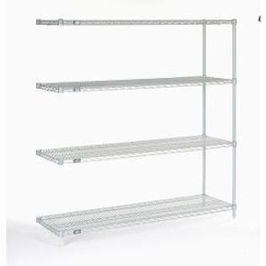 """Nexel®Stainless Steel Wire Shelving Add-On 60""""W x 18""""D x 63""""H"""