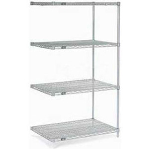 """Nexel®Stainless Steel Wire Shelving Add-On 48""""W x 24""""D x 86""""H"""